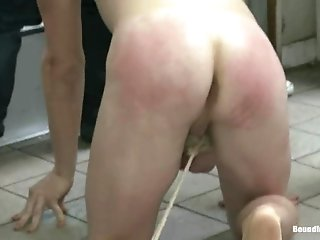 A Hot Gay Gets Pulled By The Balls And Fucked In The Laundry