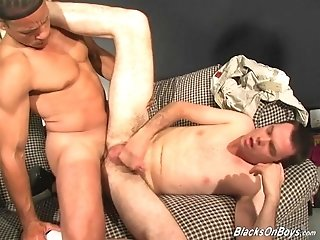 Horny Queer Gets His Ass Fucked Every Which Way By Two Dudes