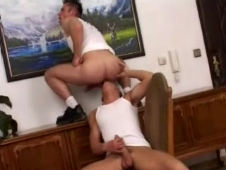 Two Handsome Gays Bang In Missionary Position After Petting Each Other