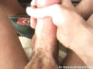 Horny Amateur Twink Comes Against A Mirror
