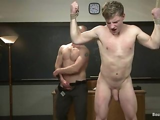Doug Acre Gets His Cock Rubbed And His Ass Ripped Apart