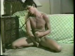 Gay Hussy Jerks His Weiner Off While Talking On The Phone